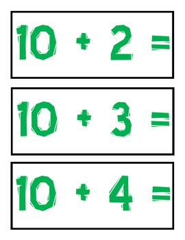 Addition Flashcards (Doubles and Teens Math Facts)