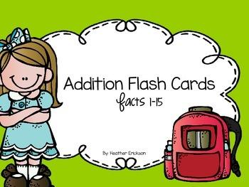 Addition Flashcards FREEBIE!!