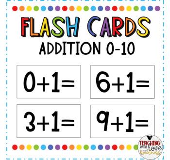 Addition Flashcards (Sets 1-10)