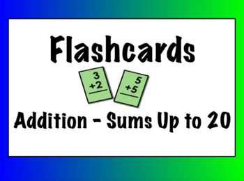 Addition Flashcards (Sum up to 20)