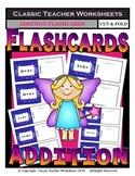 Addition Flashcards- Cut & Fold- Sums to 21-Kindergarten/Grade 1/1st Grade