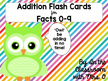 Addition Flashcards for Facts 0-9