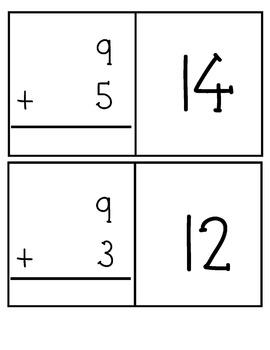 Addition Flashcards for Number Nine