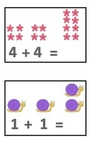 Addition Flashcards to 10 without answers