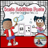Addition Flashcards with Basic Facts --- Large Flashcards