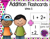Addition Flashcards within 5