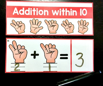 Addition Flip Cards~ Finger Addition within 10