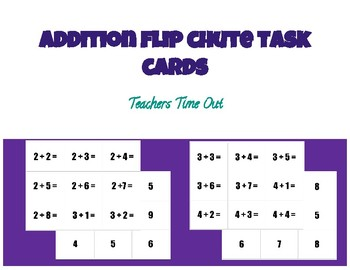 Addition Flip Chute Task Cards