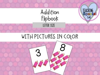 Addition Flipbook - Level ONE with clipart