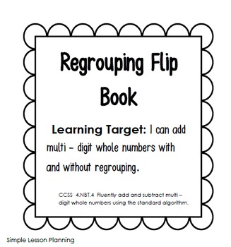 Addition Flipbook (with Re - Grouping)