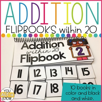 Addition Flipbooks for Addition Facts within 20