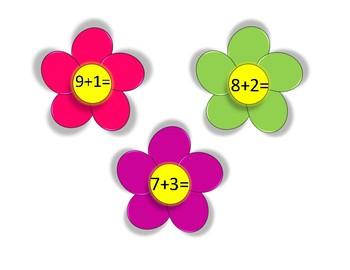 Flower Theme Addition Practice