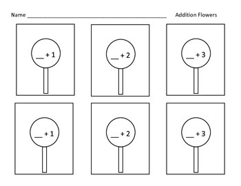 Addition Flower Worksheet