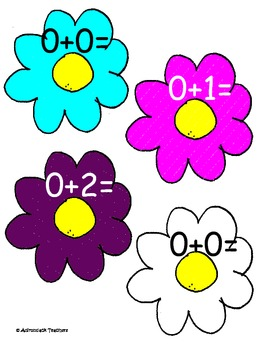 Addition Flowers Cake Walk Style, Write the room 7 Games in all! Sums to 10