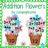 Addition Flowers Math Center Activity Sums From 0-15