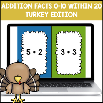 Addition Fluency 0-10 within 20 PowerPoint Game (Thanksgiving Edition)