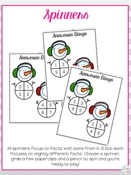 Winter Math Activity: Addition Sums to 10