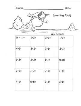 Addition Adding to 5 Kindergarten Sprints Drills Practice K.OA.5 35 pgs.