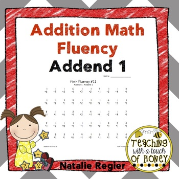 Addition Fluency: Addend 1 Addition Worksheets