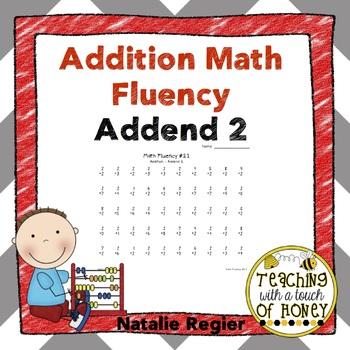 Addition Fluency: Addend 2 Addition Worksheets