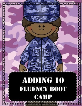 Addition Fluency Boot Camp Adding Ten to One Digit Numbers Sampler
