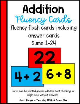 Addition Fluency Cards