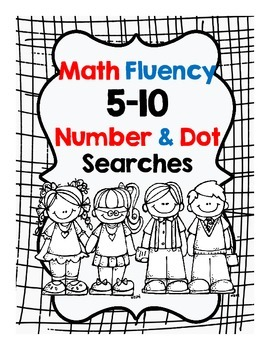 Addition Fluency Dot and Number Searches
