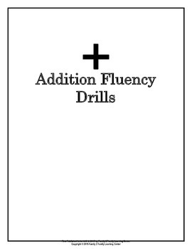 Addition Fluency Drill Packet
