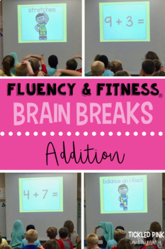Addition Math Facts Fluency & Fitness Brain Breaks Bundle
