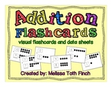 Addition Fluency Flashcards- Visual Flashcards and Data Sheets