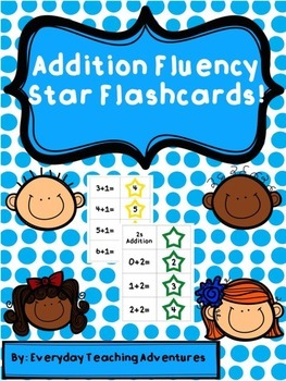 Addition Fluency Flashcards with Stars
