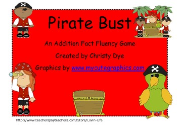 Pirate Bust- An Addition Fluency Game