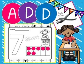 I Can Add! Addition Fluency Hole Punch or Clothespin Activ