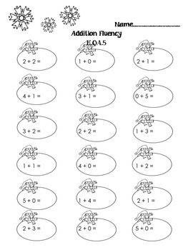 Addition Fluency K.OA.5