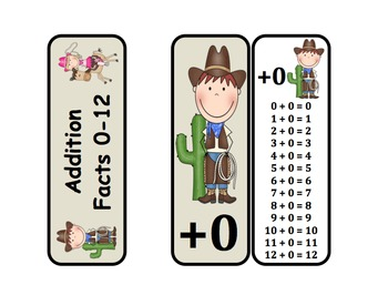 Addition Fact Rings (Cowboy & Cowgirl Themed)