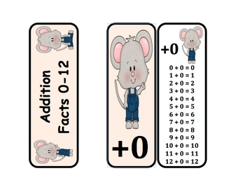 Addition Fact Rings (Mouse Themed)
