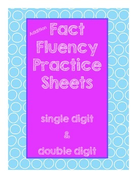 Addition Fluency Print & Go