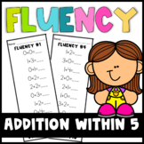 Addition Fluency Strips within 5