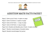Addition Fluency Tests and Record