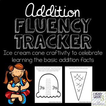 Addition Fluency Tracker Craftivity