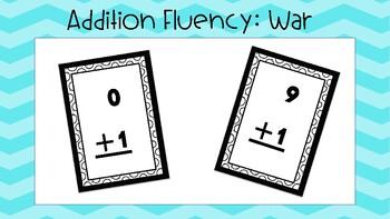 Addition Fluency War Card Game