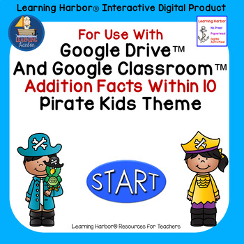Addition Fluency Within 10 Pirate Kids