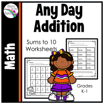 Addition Worksheets (Addition Facts to 10)