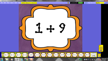 Addition Fluency for numbers 0-10 and making 10