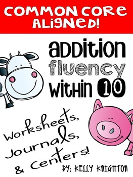 Addition- Fluency within Sums of 10 (Farm Themed)