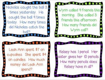 Addition Four Corners & More Sums 7-12