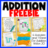 Addition Freebees Printables: Math Worksheets, Activities and Games