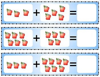 Addition Fruit Apples - Activity Set for  Learning Centers