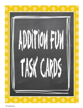 Addition Fun Task Cards