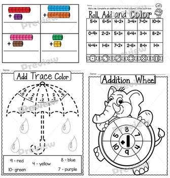 Addition Fun Worksheets and Activity Set for Young Learners